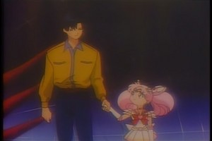 Mamoru And mini Moon