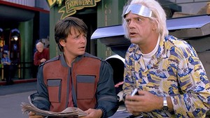 Marty, Doc & Biff In Back To The Future: Part 2