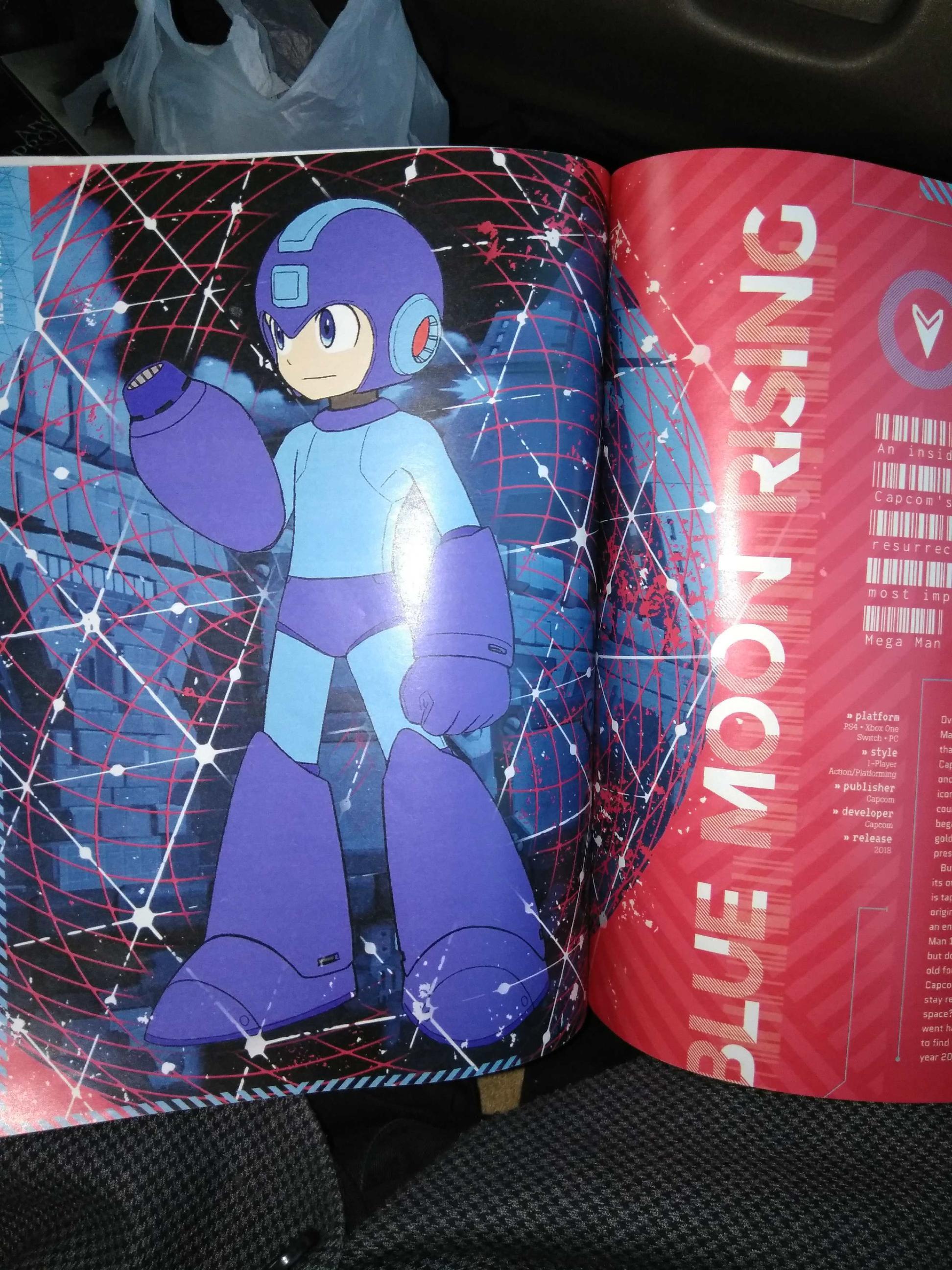 Mega Man Game Informer Magazine Megaman Foto 40909200