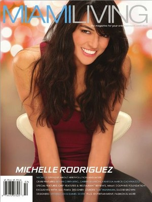 Michelle Rodriguez - Miami Living Cover - 2012