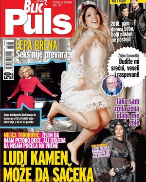 Milica shoots for Blic Puls [December 2017]