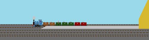 Thomas the Tank Engine Hintergrund entitled Millie Slipping