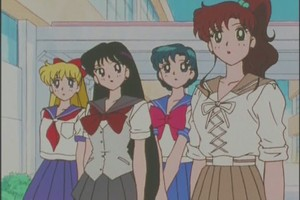 Minako Rei Ami and Makoto