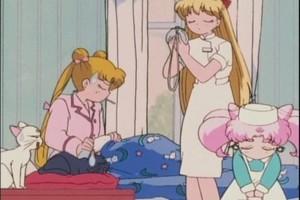 Minako Usagi and Rini