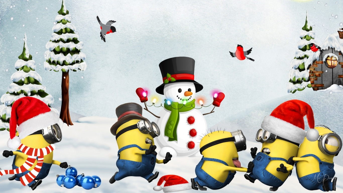 Funny Minion Merry Christmas Wallpapers Sayings: Minions Navidad Fondo De Pantalla