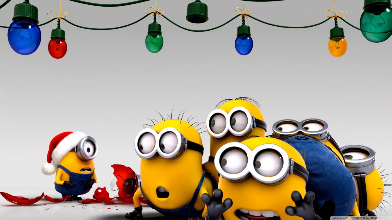 despicable me images minions christmas wallpaper hd wallpaper and background photos - Christmas Minions