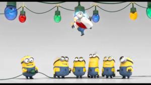 Minions Krismas kertas dinding