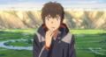 Mitsuha, in taki's body,realizing what happened