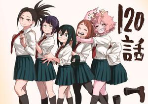 Momo, Kyoka, Tsuyu, Ochako,Mina, and Toru ~ Boku no Hero Academia