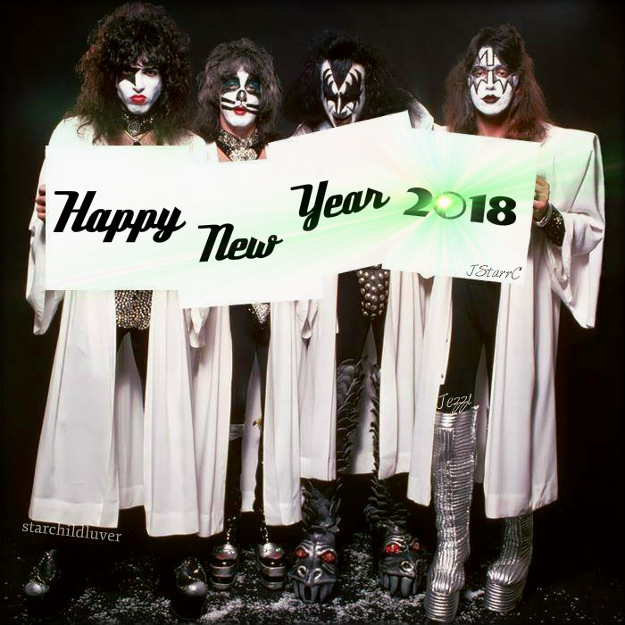 Paul Stanley Bilder New Years Tag Kisses 2018 Hintergrund And