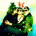 Norman Reedus, Briana Venskus and Jeffrey Dean Morgan - the-walking-dead icon