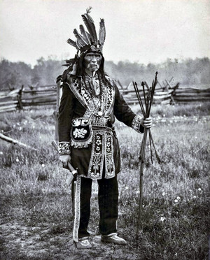 Oneida Chief Danforth near Six Nations Of The Grand River, Ontario. (Reserve- Ohsweken)