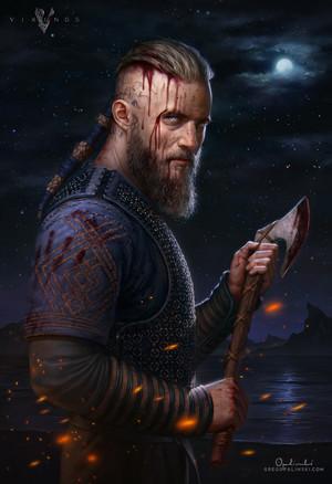Ragnar Lothbrok sa pamamagitan ng greg opalinski