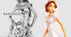 Rapunzel Wedding Dress design