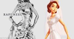 Rapunzel Wedding Dress thiết kế