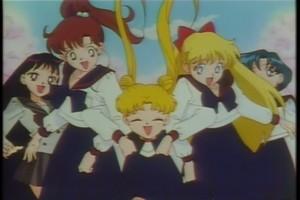 Rei Makoto Usagi Minako and Ami