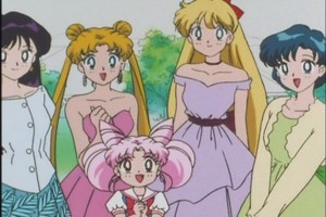Rei Usagi Chibiusa Minako and Ami