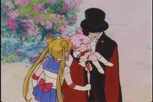 Rini Sailor Moon and tuxedo mask