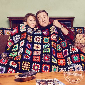Roseanne Cast's Entertainment Weekly Portraits - Roseanne Barr and John Goodman