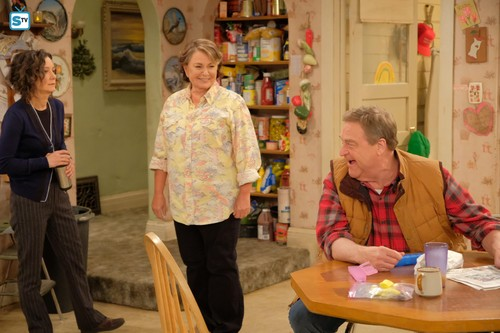 Roseanne achtergrond called Roseanne Revival - 10x01 - Twenty Years to Life - Darlene, Roseanne and Dan
