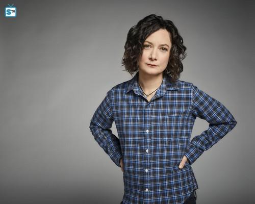 Roseanne karatasi la kupamba ukuta called Roseanne Revival Portraits - Sara Gilbert as Darlene Conner