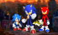SONIC FORCES Modern  Classic  and Avatar Heroes - sonic-the-hedgehog fan art