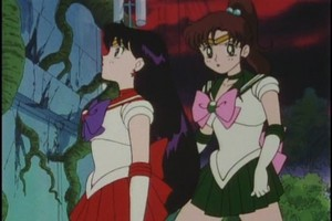 Sailor Mars and Jupiter