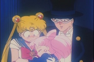 Sailor Moon Rini and Tuskdo Mask