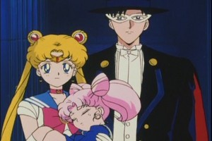 Sailor Moon Tuxedo Mask and Rini