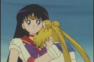 Sailor Moon and Mars