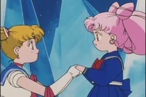 Sailor Moon and Rini