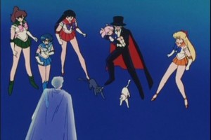 Sailor Scouts Rin Tuxedo Mask and king Endymion