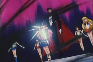 Sailor Scouts Rin and Tuxedo Mask