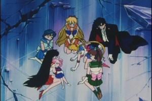 Sailor Scouts Rini and Tuxedo Mad