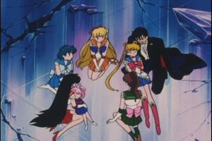 Sailor Scouts Rini and Tuxedo Mask