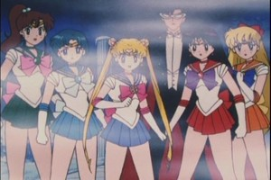 Sailor Scouts and Tuxdo Mask