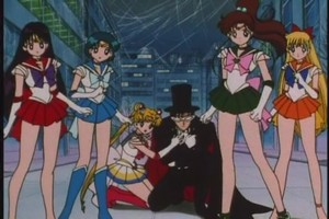 Sailor Scouts and Tuxedo Mask