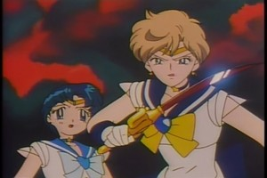 Sailor Uranus and Mercury