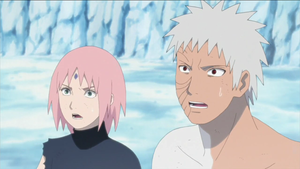 Sakura and Obito