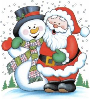 Santa & Snowman Best Friends
