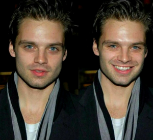 Sebastian Stan - straight smiling face