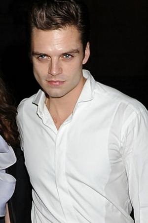 Sebastian Stan white shirt