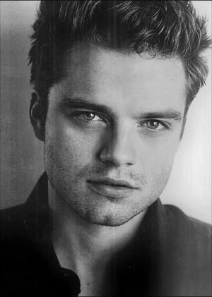 Sebastian Stan young black white