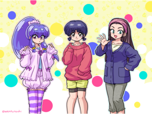 Shampoo, Akane, and Ukyo(らんま1 2)
