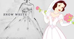 Snow White Wedding Dress design