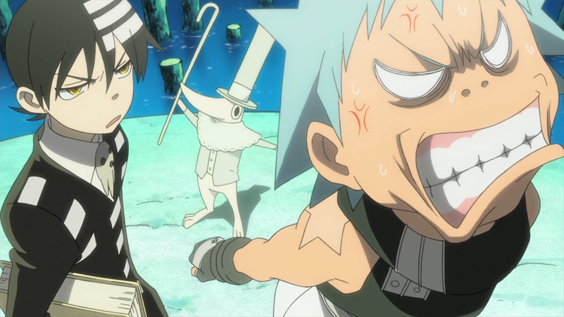 Uriel123 Images Soul Eater Episode 9 Hd Kid And Black Star Annoyed