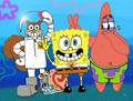 Spongebob, Patrick, Sandy and Gary - spongebob-squarepants wallpaper