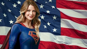 Supergirl Stars Stripes 1