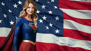 Supergirl Stars Stripes