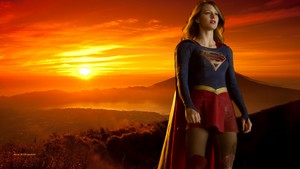 Supergirl Sunset